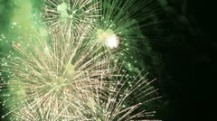 Fireworks on Fourth of July - stock footage
