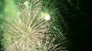 Stock Video Footage of Fireworks on Fourth of July