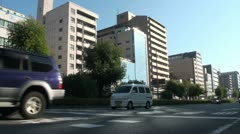 Traffic in downtown Kyoto, Japan - stock footage