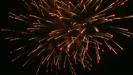 Night show on Fourth of July Stock Footage