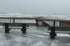 Hurricane comes ashore - stock footage