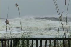 Hurricane Ivan comes ashore - stock footage