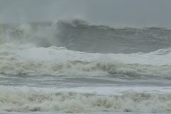 Huge Hurricane Waves Stock Footage