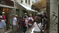 Busy market streets of Venice Stock Footage