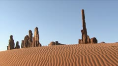 MONUMENT VALLEY TOTEMS Stock Footage