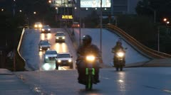 Night traffic in Latin America Stock Footage