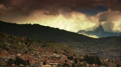Pan of La Paz Stock Footage