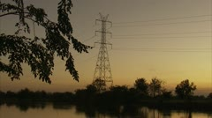 Hydro Tower At a Distance  Stock Footage