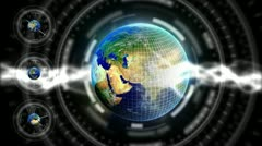 Luxury Spinning Earth Background 75 (HD) Stock Footage