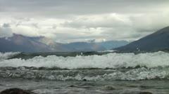 Waves and Mountains Stock Footage
