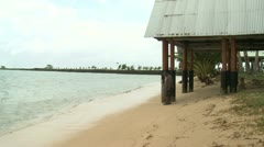 Tropical Storm Approaches Pacific Island Stock Footage
