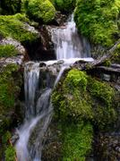 fresh water cascade - stock photo