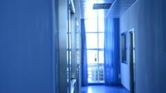 Modern lab interior architecture  Stock Footage