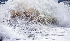 Sea surf wave Stock Photos