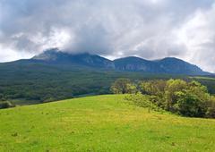 Spring mountains landscape (crimea, ukraine) Stock Photos