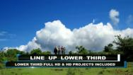 Line Up Lower third Stock After Effects