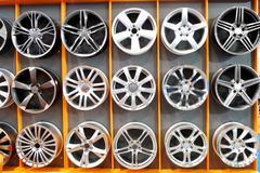 car wheel aluminum rims.JPG - stock photo