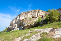 spring crimea landscape (ukraine). - stock photo