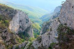 Stock Photo of spring great crimean canyon landscape (ukraine).