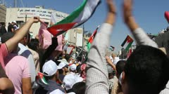 Amman Jordan Protest  Stock Footage