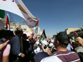 Amman Jordan Protest Stock Footage