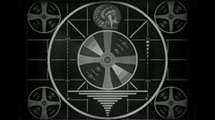 Indian Head test pattern countdown Stock Footage