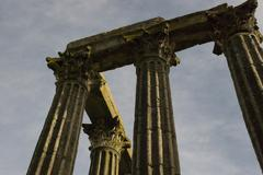 Old roman pillars Stock Photos