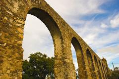 arches of aqueduct - stock photo