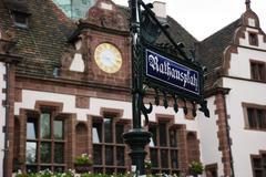 City hall, freiburg Stock Photos