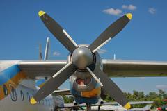 Propeller plane - stock photo