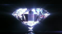 Beautiful Diamond Close-Up with Matte in Looped animation. HD 1080. Stock Footage