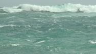 Stock Video Footage of Stormy Seas As Hurricane Nears Coast