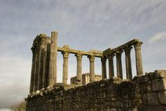 ruins of roman temple - stock photo