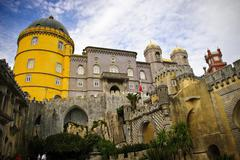 palace pena, sintra - stock photo