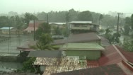 Stock Video Footage of Tropical Storm Lashes Pacific Island