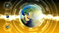 Luxury Spinning Earth Background 81 (HD) Stock Footage