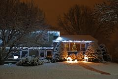 Outdoor Christmas Lights Stock Photos