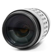 tele zoom lens isolated on white - stock photo