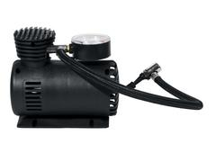 Car air compressor isolated over white with clipping path Stock Photos