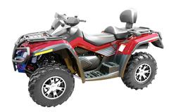 Grand 4x4 atv isolated.jpg Stock Photos