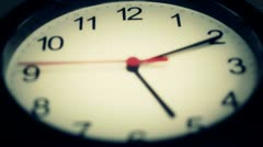 Black wall clock Stock Footage