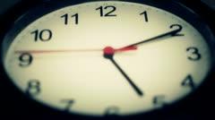 Black wall clock - stock footage