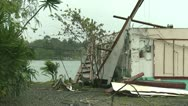 Stock Video Footage of Hurricane Damage To Building