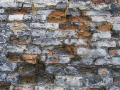 utter desolation 3 (old wall) - stock photo