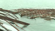 Stock Video Footage of Hurricane Debris Lies In Sea