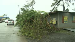 Hurricane Damage To Building - stock footage