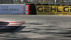 Long Beach Grand Prix Indy Race 2011 10 - stock footage