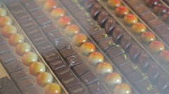 Belgian chocolates collection Stock Footage