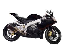 racing black motobike isolated.jpg - stock photo