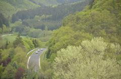 Nurburgring Nordschleife Circuit in Germany - stock photo